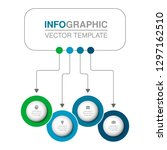 vector infographic template for ... | Shutterstock .eps vector #1297162510