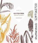 gluten free plants design. hand ...   Shutterstock .eps vector #1297162723