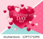 valentines day sale  discont... | Shutterstock .eps vector #1297171090