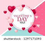 valentines day sale  discont... | Shutterstock .eps vector #1297171093