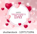 valentines day sale  discont... | Shutterstock .eps vector #1297171096