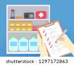 illustration of hands checking... | Shutterstock .eps vector #1297172863