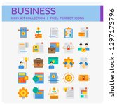 business icons set. ui pixel...