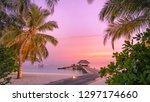 maldives resort island in... | Shutterstock . vector #1297174660