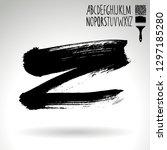 black brush stroke and... | Shutterstock .eps vector #1297185280