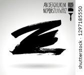 black brush stroke and... | Shutterstock .eps vector #1297185550