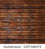 decor vintage plank dark wood... | Shutterstock . vector #1297186573