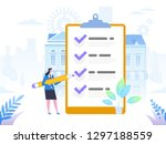 successful completion of...   Shutterstock .eps vector #1297188559