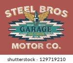 motor company vintage sign  ...