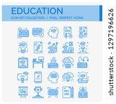 education icons set. ui pixel... | Shutterstock .eps vector #1297196626