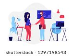 business vector illustration.a... | Shutterstock .eps vector #1297198543