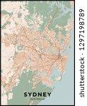 sydney  australia  city map.... | Shutterstock .eps vector #1297198789