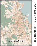 brisbane  australia  city map.... | Shutterstock .eps vector #1297198810