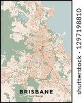 brisbane  australia  city map.... | Shutterstock .eps vector #1297198810