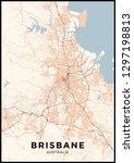 brisbane  australia  city map....   Shutterstock .eps vector #1297198813