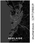 adelaide  australia  city map.... | Shutterstock .eps vector #1297198819