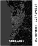 adelaide  australia  city map.... | Shutterstock .eps vector #1297198819