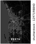 perth  australia  city map.... | Shutterstock .eps vector #1297198840