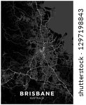 brisbane  australia  city map.... | Shutterstock .eps vector #1297198843