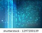 data transmission visualization....   Shutterstock .eps vector #1297200139