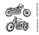set of motorcycles isolated on...   Shutterstock .eps vector #1297204756