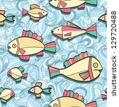 seamless pattern wish funny... | Shutterstock .eps vector #129720488