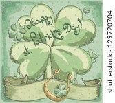 vector st. patrick's day... | Shutterstock .eps vector #129720704