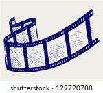 film strip. doodle style.... | Shutterstock .eps vector #129720788