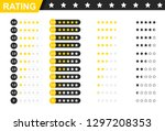 rating stars badges. feedback... | Shutterstock .eps vector #1297208353