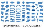 flat vector ribbons banners... | Shutterstock .eps vector #1297208356