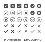 green check mark and red cross... | Shutterstock .eps vector #1297208440