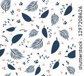colorfull tropical leaves...   Shutterstock .eps vector #1297208626