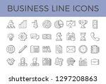 business icons vector set.... | Shutterstock .eps vector #1297208863