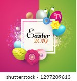 happy easter design template... | Shutterstock .eps vector #1297209613