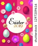 happy easter design template... | Shutterstock .eps vector #1297209616