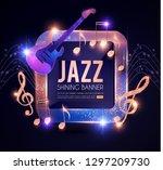 jazz concert poster template... | Shutterstock .eps vector #1297209730