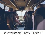 the tourist bus interior with... | Shutterstock . vector #1297217053