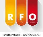 rfo   request for offer acronym ... | Shutterstock .eps vector #1297222873