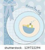 baby shower invitation in... | Shutterstock .eps vector #129722294