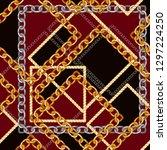 seamless pattern with golden... | Shutterstock .eps vector #1297224250