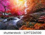 khlong lan waterfall is a... | Shutterstock . vector #1297226530