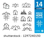 house vector icons   Shutterstock .eps vector #1297240150