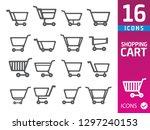 shopping cart icons | Shutterstock .eps vector #1297240153