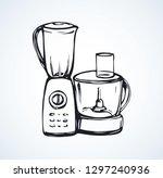 domestic glass crush chopper... | Shutterstock .eps vector #1297240936