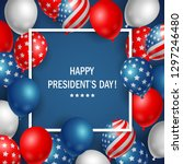 happy presidents day usa with... | Shutterstock .eps vector #1297246480
