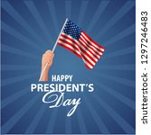 happy presidents day background ... | Shutterstock .eps vector #1297246483
