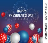 happy presidents day usa with... | Shutterstock . vector #1297246510