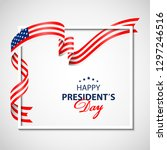 happy presidents day background ... | Shutterstock . vector #1297246516