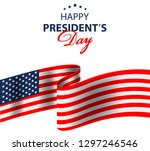 happy presidents day background ... | Shutterstock .eps vector #1297246546