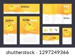 honey mead bee set flyer cover  ...   Shutterstock .eps vector #1297249366